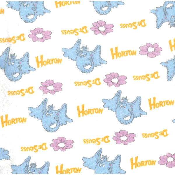 Trend Lab Dr Seuss By Horton Deluxe Flannel Fitted Crib Sheet Wayfair