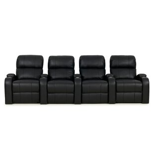 Leather Home Theater Row Seating Row of 4