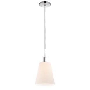 Milk glass pendant light wayfair glass pendants 1 light pendant mozeypictures Gallery