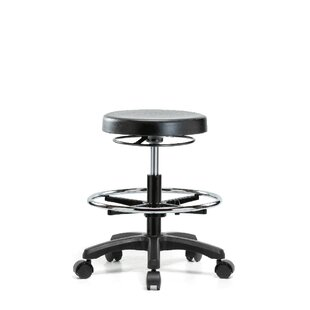 Height Adjustable Work Stool with Foot Ring