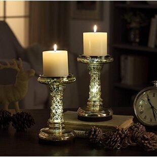 Glass Candlestick (Set of 2)