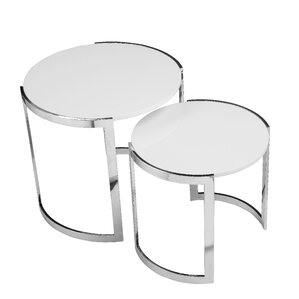 omni 2 piece nesting table set