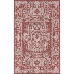 Cozine Red/Beige Indoor/Outdoor Area Rug