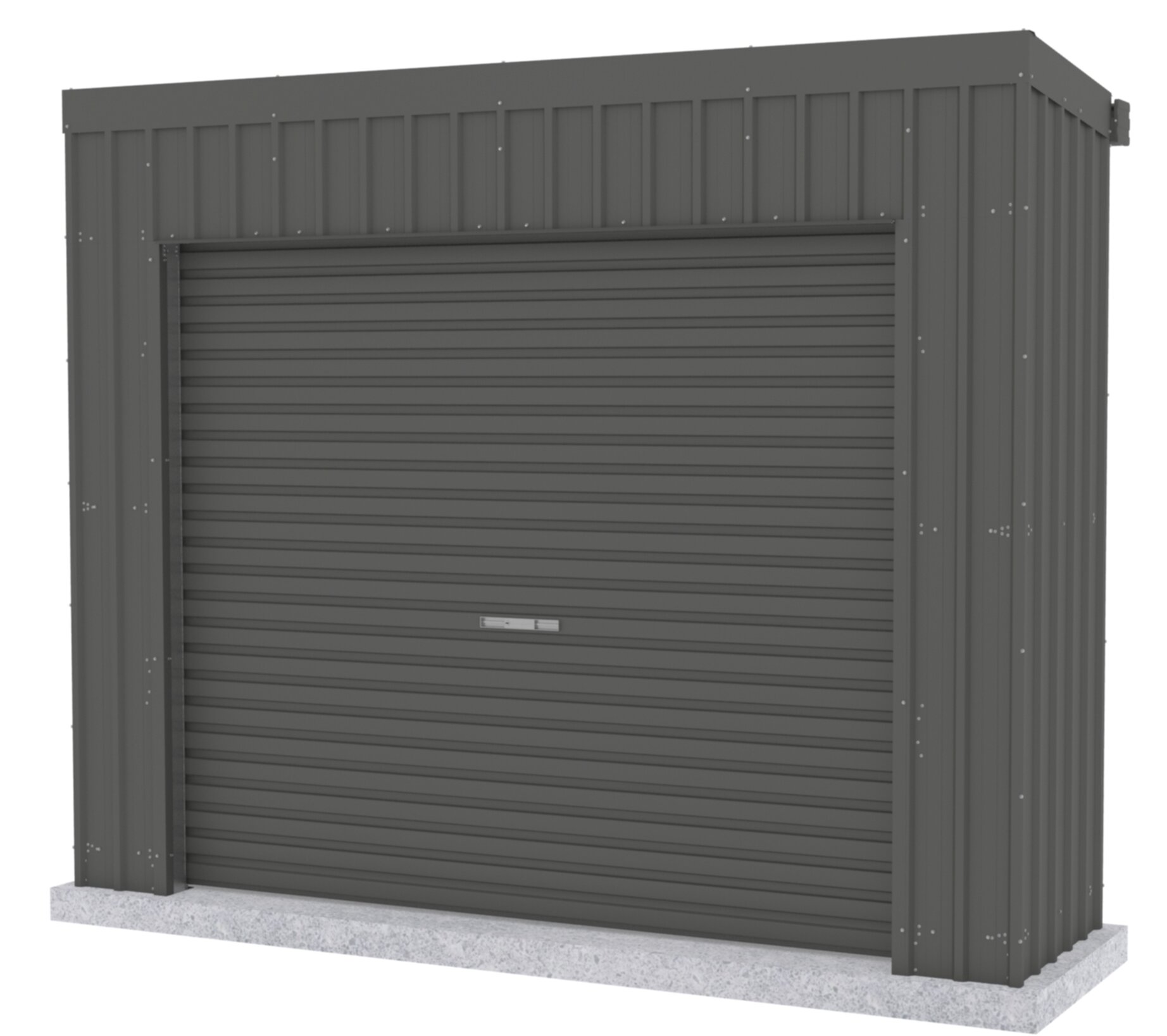 Absco Fortress 10 Ft W X 3 Ft D Metal Vertical Storage Shed Wayfair