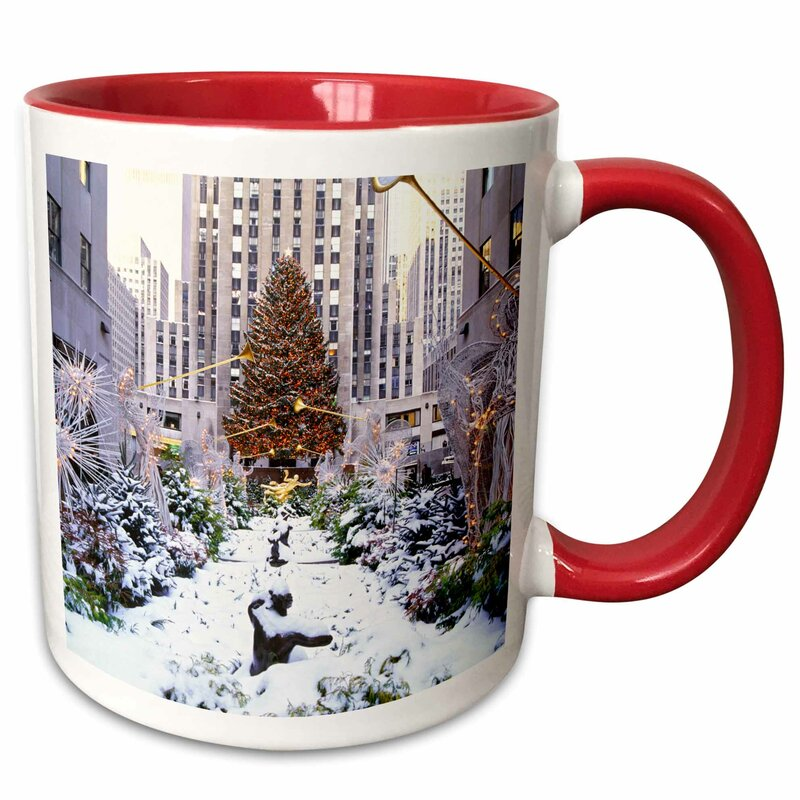 Symple Stuff Mcquaig Christmas Tree Rockefeller Center Manhattan New York Usa Coffee Mug Wayfair