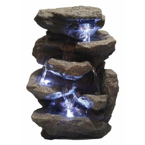 Decorative Fengshui Waterfall Fountain with LED Light