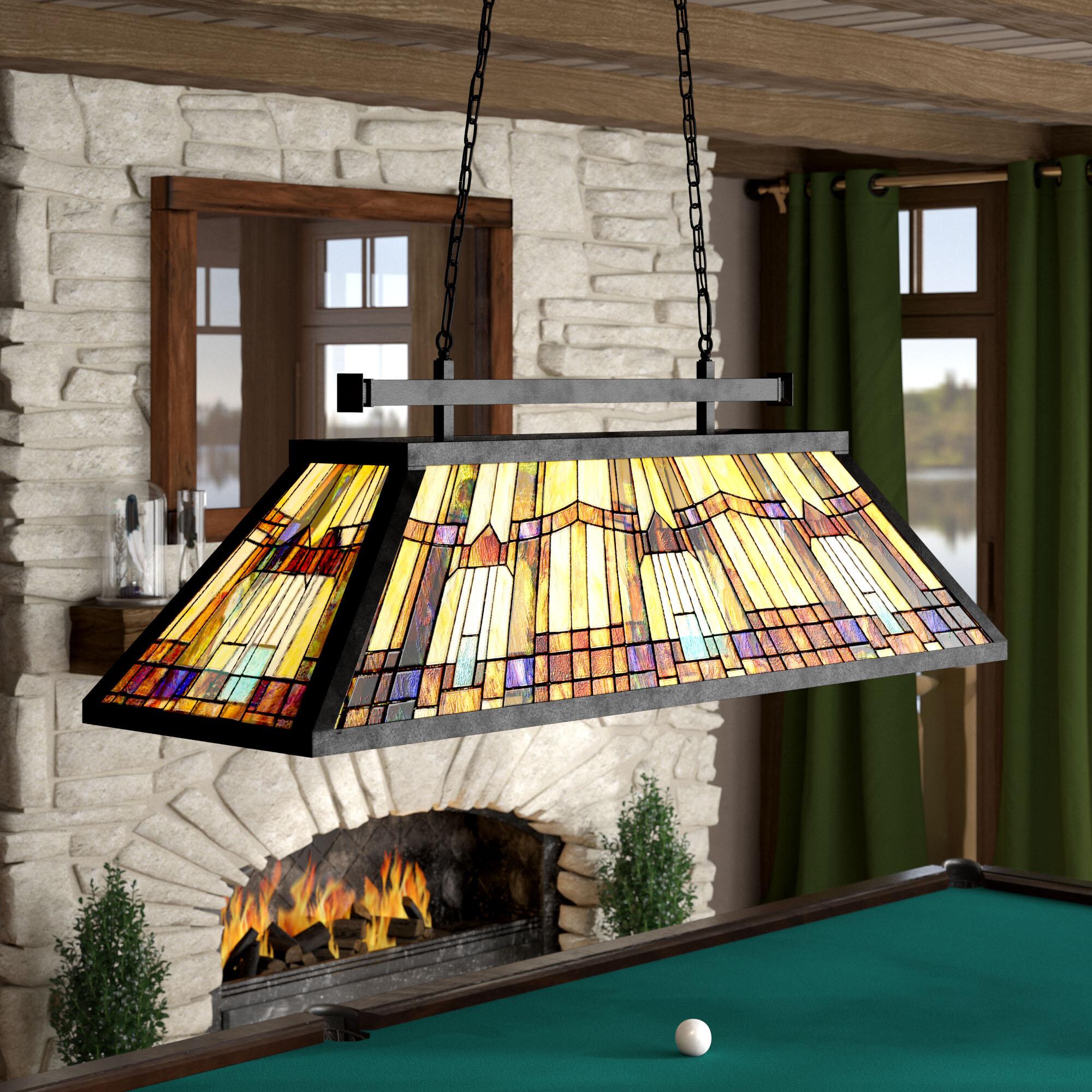 Loon Peak® St. Charles 3 - Light Pool Table Geometric Pendant