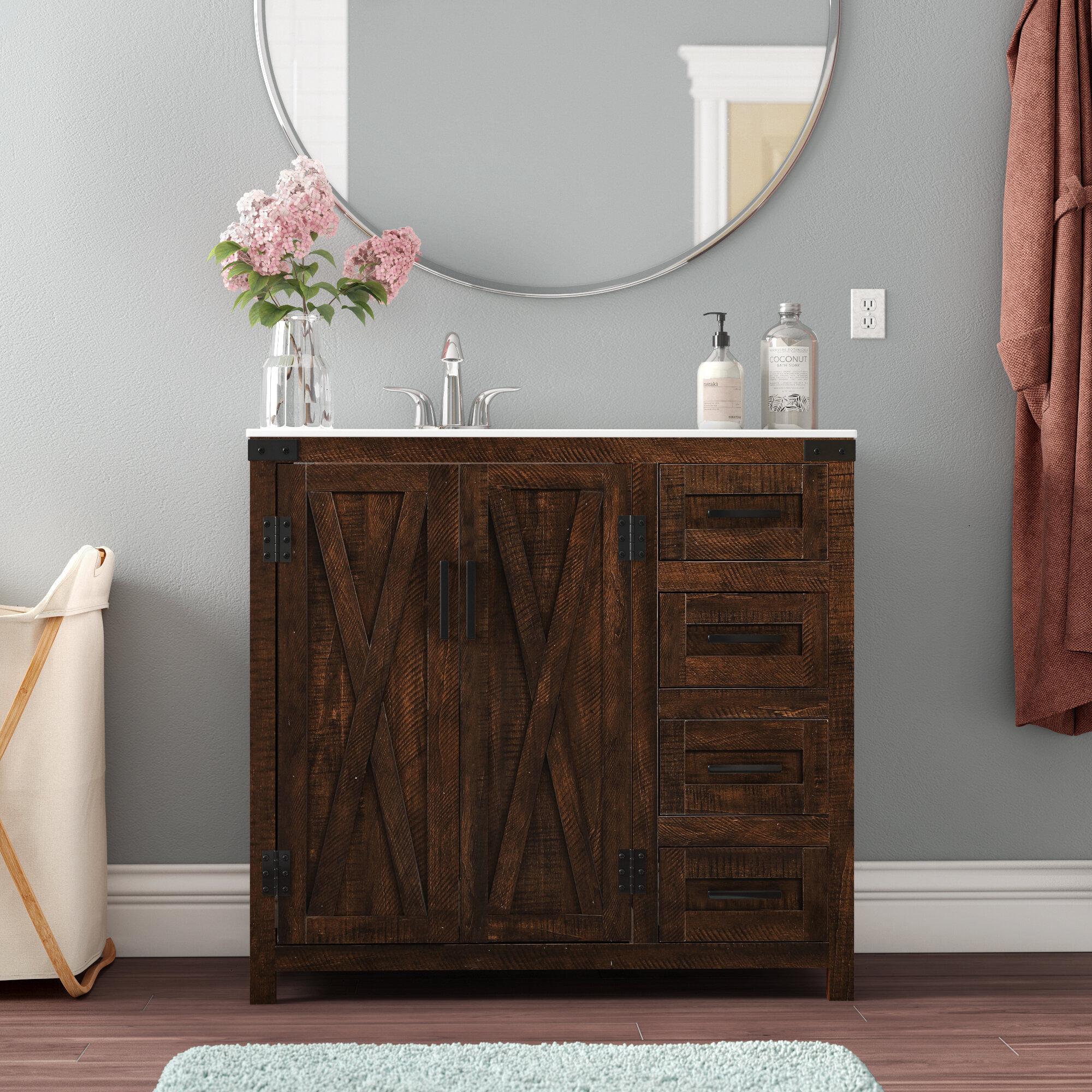 Coastal Farmhouse Williamston 36 Single Bathroom Vanity Set Reviews Wayfair