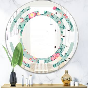 East Urban Home Quatrefoil Geometric I Cottage Americana Wall Mirror Wayfair