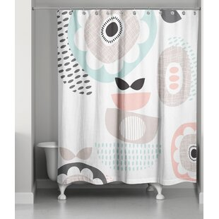 Gammill Mid Mod Pastels Single Shower Curtain