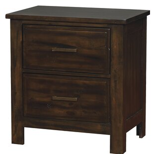 Bessie Transitional Wood 2 Drawer Nightstand by Loon Peak
