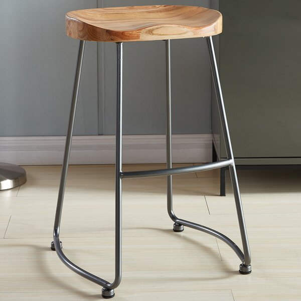 Union Rustic Shannan Solid Wood/Metal Counter Stool u0026 Reviews | Wayfair & Union Rustic Shannan Solid Wood/Metal Counter Stool u0026 Reviews ... islam-shia.org