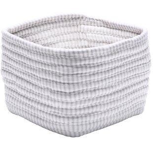 Bargain Ticking Shelf Square Basket ByColonial Mills