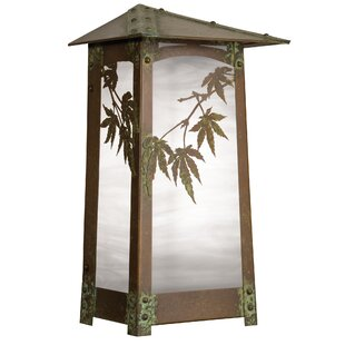 Reviews Dever Japanese Maple Outdoor Flush Mount By World Menagerie