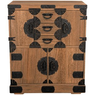 Lasalle Tansu 3 Drawer Chest by Bloomsbury Market