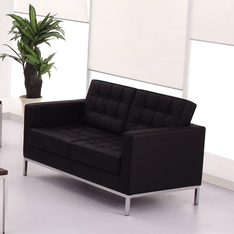 Flash Furniture Hercules Series 57 Square Arm Loveseat Sofa Bed Wayfair