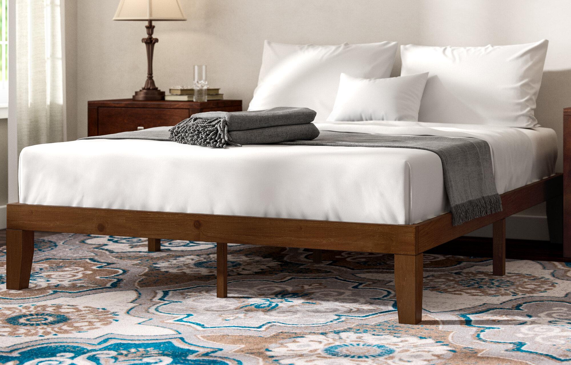 Winston Porter Hullinger Solid Wood Platform Bed Reviews Wayfair