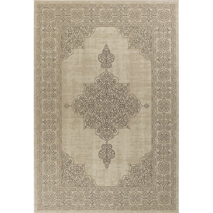 Holmes Flat Woven Wool Natural Area Rug