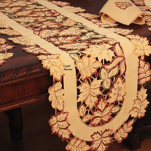 Wendling Embroidered Cutwork Table Runner