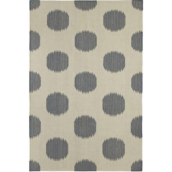 Capel Spots Polka Dots Handmade Flatweave Wool Blue Area Rug Wayfair