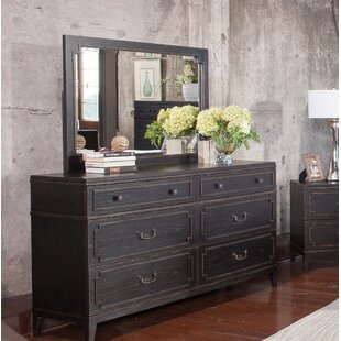 Leatherhead 4 Drawer Double Dresser with Mirror by Gracie Oaks