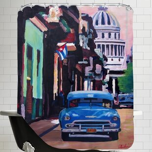 Markus Bleichner Weesner Cuban Old-timer Street Scene in Havanna Cuba with Buena Vista Feeling Poster 2 Single Shower Curtain