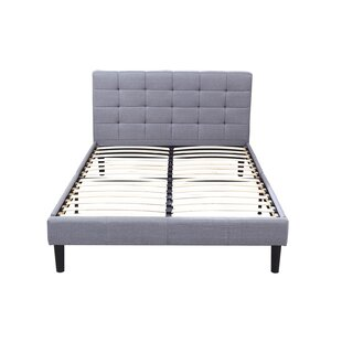 Classic Deluxe Linen Low Profile Platform Bed