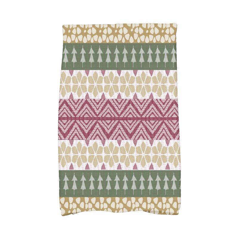 The Holiday Aisle Fair Isle Geometric Print Dishcloth & Reviews ...