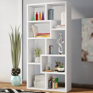 Skaggs Geometric Bookcase by Wrought Studio Bargain