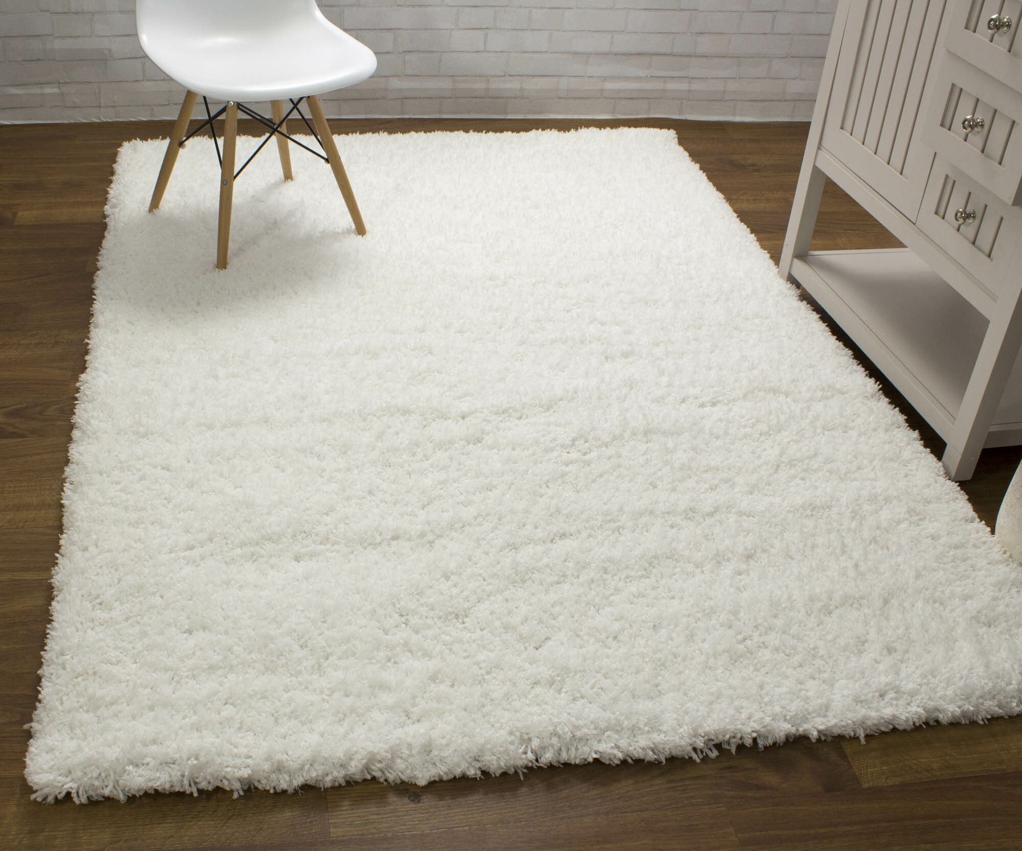 white area rug plush harriet bee ambriz microfiber ultra soft shag white area rug reviews wayfair