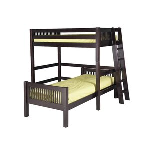 Oakwood Twin L-Shaped Bunk Beds by Harriet Bee Coupon