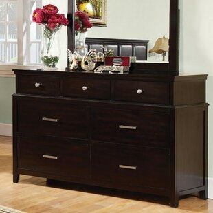 Best Reviews Robby 7 Drawer Dresser with Mirror by Darby Home Co