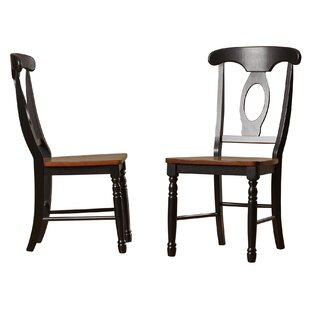 Courtdale Solid Wood Dining Chair (Set of 2) Three Posts