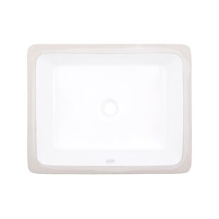 Shop For Ceramic Rectangular Undermount Bathroom Sink with Overflow By American Imaginations