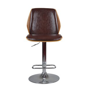 Bricker Adjustable Height Swivel Bar Stool George Oliver