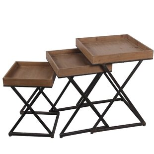 Osblek X Design 3 Piece Nesting Tables by Three Posts