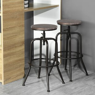 Jolene Adjustable Height Swivel Barstools (Set of 2) by Williston Forge