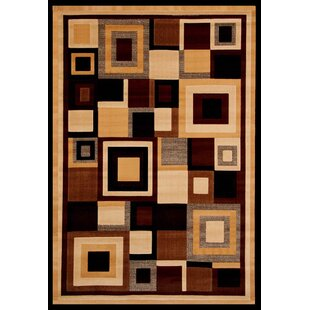 Affordable Cerna Black/Beige Area Rug By Winston Porter