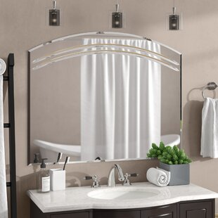 Wallingford Large Frameless Wall Mirror ByRosecliff Heights