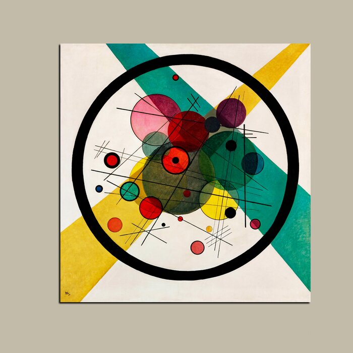 Circles In A Circle By Wassily Kandinsky Graphic Art On Wrapped Canvas