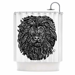 The Leon by Adriana De Leon Lion Illustration Single Shower Curtain