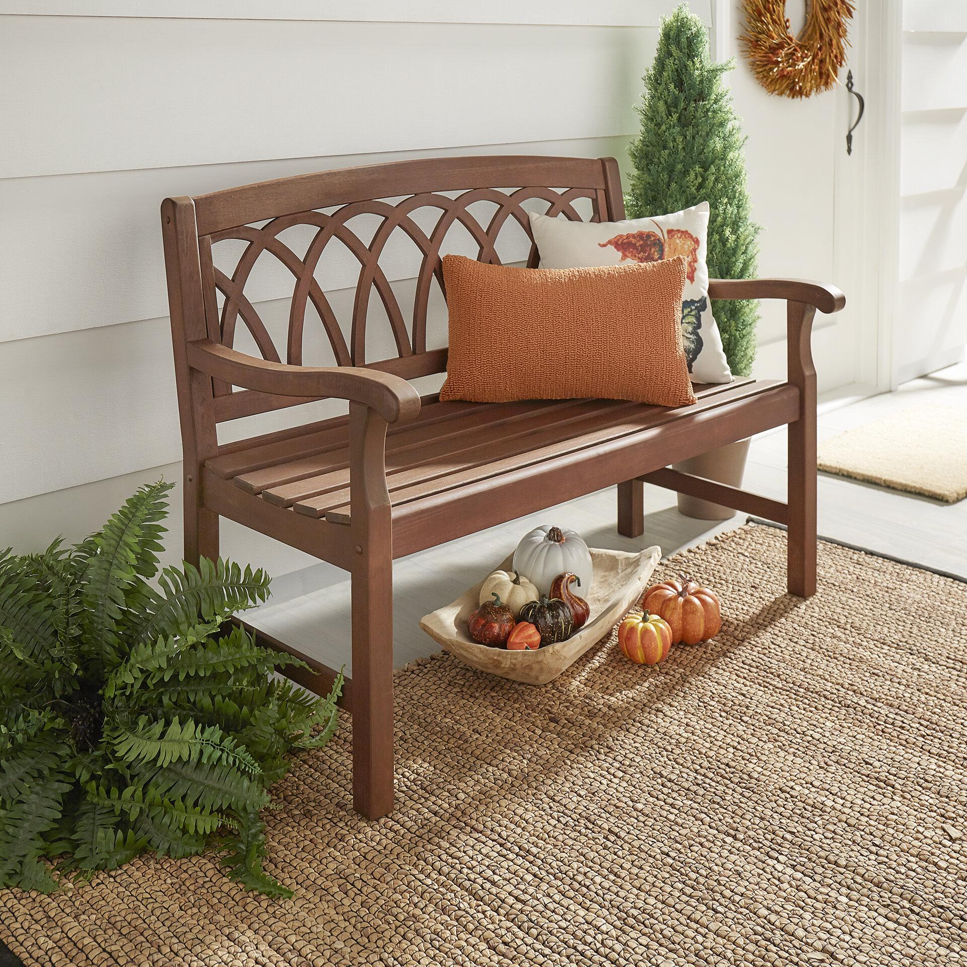 Three Posts Brook Hollow Wooden Garden Bench U0026 Reviews | Wayfair