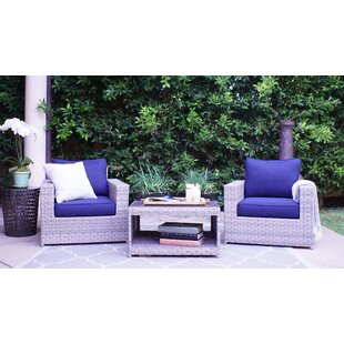 Burkley Olefin 3 Piece 2 Person Seating Group