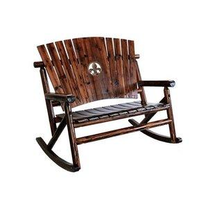 Char-Log Fleur de Lis Medallion Double Rocking Chair II By Leigh Country