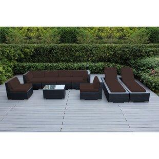Barna 9 Piece Sunbrella Sectional Set with Cushions