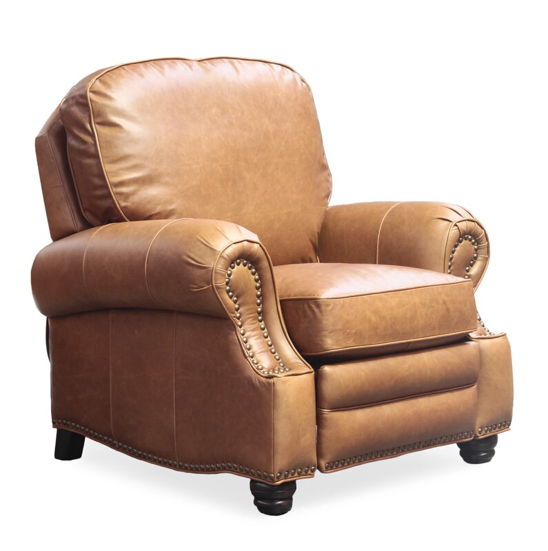 Barcalounger Longhorn Leather Recliner & Reviews | Wayfair
