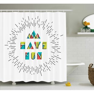 Maximillian Inspiring Motive Words Single Shower Curtain