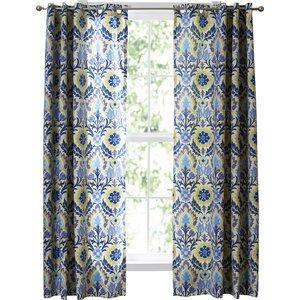 Sun-N-Shade Damask Semi-Sheer Single Curtain Panel