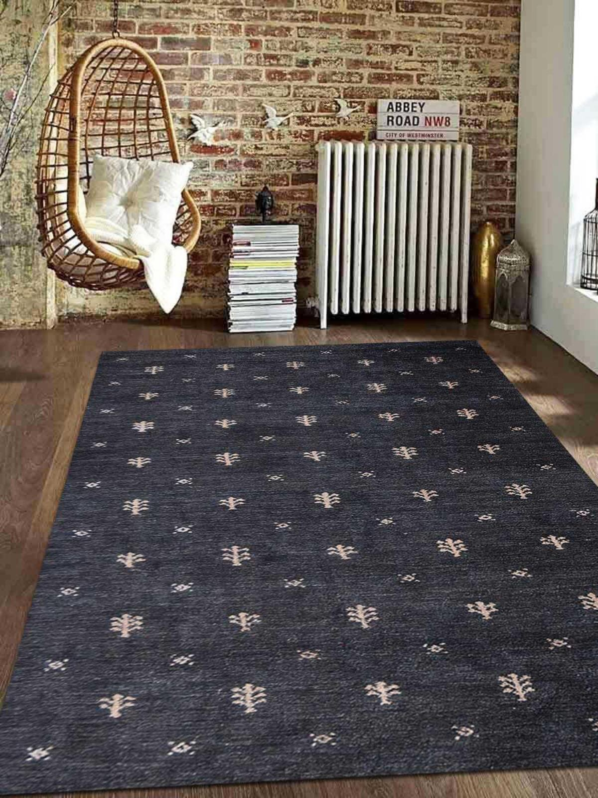 Union Rustic Paisleigh Hand Knotted Silk Charcoal Area Rug Wayfair