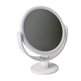Savings Amya Dual Sided Rubberized Vanity Makeup/Shaving Mirror By Symple Stuff
